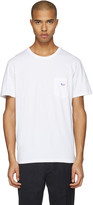 MAISON KITSUNÉ White Fox Patch T-shirt