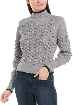 BCBGMAXAZRIA Mock Wool-Blend Sweater