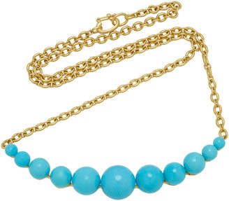 Irene Neuwirth 18K Gold And Turquoise Necklace
