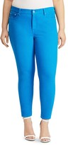 Lauren Ralph Lauren Plus Skinny Ankle Jeans in Blue Water Turquoise Wash