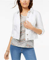 Style&Co. Style & Co Petite Released-Hem Cropped Denim Jacket, Created for Macy's