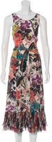 Dries Van Noten Floral Print Silk Dress