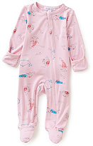 Angel Dear Baby Girls Newborn-6 Months Mermaid Footed Coverall