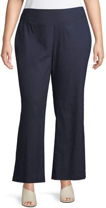 INC International Concepts Plus Wide-Leg V-Front Pants