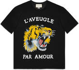 Gucci Tiger print cotton t-shirt