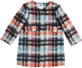 Milly Minis Plaid Felt Cotton & Wool Blend Coat