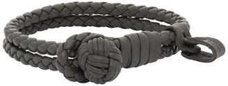 Bottega Veneta Grey Intrecciato Bracelet
