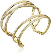 "Vince Camuto Pave Items"" Criss Cross Gold Cuff Bracelet"