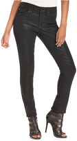Else Jeans Skinny Jeans, Coated Black-Wash Jeans