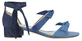 Alexandre Birman Mary Triple Tie Ombre Denim Sandals