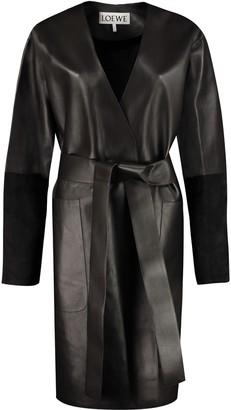 Loewe Belted Leather Jacket