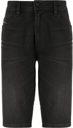 Diesel Knee-Lengh Denim Shorts
