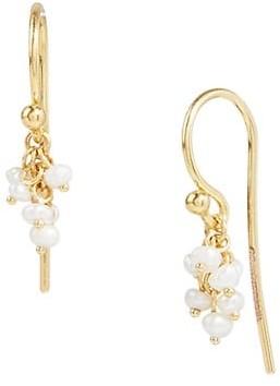 Gurhan Boucle 18K & 24K Yellow Gold & 2-2.5MM Pearl Charm Earrings