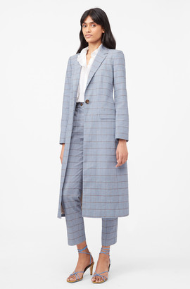 Rebecca Taylor Tailored Windowpane Twill Blazer