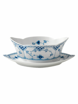 Royal Copenhagen Half Lace Gravy Boat with Stand