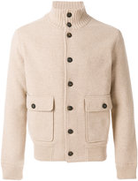Lardini knitted bomber jacket - men - Polyamide/Viscose/Wool - 48