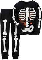 Carter's Boys Skeleton Glow-In-The-Dark Cotton Pajama Set