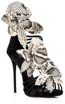 Giuseppe Zanotti Open Toe Platform Evening Sandals - Coline Flower High Heel