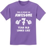 TeeStars - This Is What an Awesome 7 Year Old Looks Like Youth Kids T-Shirt