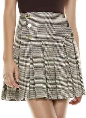 Alice + Olivia Emilie Pleated Mini Skirt