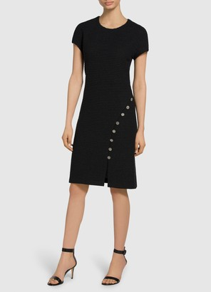 St. John Adina Stitch Knit A-Line Dress