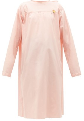 Raf Simons Tie-back Cotton-poplin Midi Dress - Light Pink