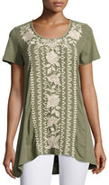 Johnny Was Letty Embroidered-Panel Tunic