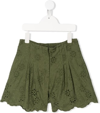 MonnaLisa Eyelet-Lace Shorts