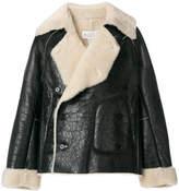 Maison Margiela shearling lined biker jacket