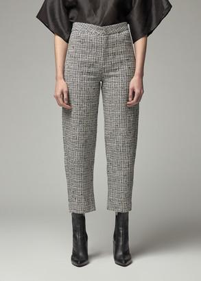 Totême Women's Novara Pant in Black/White Size Medium Cotton/Linen/Nylon