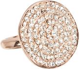 Love Rocks Crystal & Rose Goldtone Disk Ring