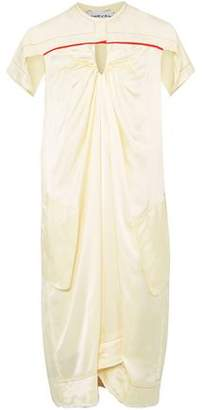 Carven Ruched Satin-twill Dress