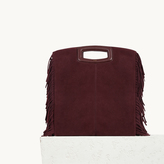 Maje Suede leather bag with fringing