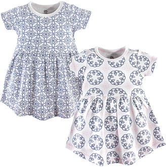 Yoga Sprout Girls' Casual Dresses Whimsical - Blue Whimsical Dress Set - Newborn, Infant, Toddler & Girls