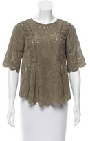 Vanessa Bruno Silk Eyelet Top