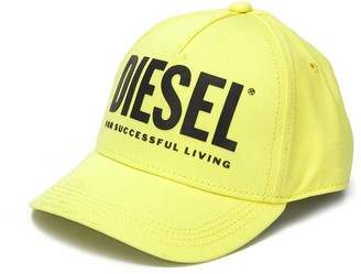 Diesel Logo Print Baseball Cap