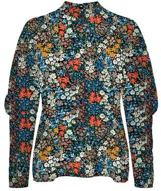 Vero Moda Floral Puff Sleeve Top - XS