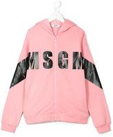 MSGM Teen logo print hoodie - kids - Cotton - 14 yrs