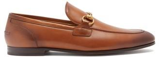 Gucci Jordan Horsebit Leather Loafers - Tan