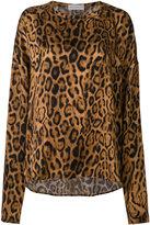 Faith Connexion leopard print longsleeved blouse - women - Silk - XS