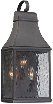 Artistic Home & Lighting Forged Jefferson 3-Light Outdoor Sconce