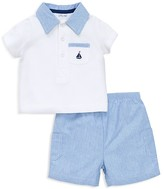 Little Me Infant Boys' Sailboat Piqué Polo Shirt & Shorts Set - Sizes 3-12 Months