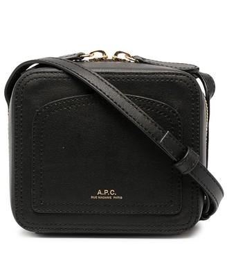 A.P.C. Zip-Around Leather Crossbody Bag