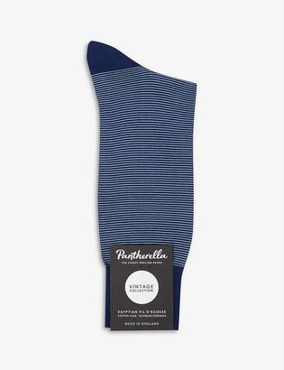 Pantherella Seymour striped cotton-blend socks