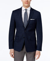 Calvin Klein Men's Slim-Fit Navy Plaid Sport Coat