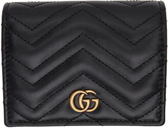 Gucci Black GG Marmont 2.0 Chain Wallet Bag