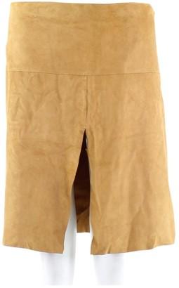 Dolce & Gabbana Beige Suede Skirt for Women