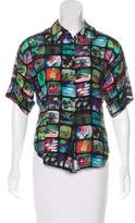 Jeremy Scott Printed Short Sleeve Top
