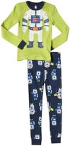 Petit Lem Astro Bear 2 Piece PJ Set (Toddler/Kid) - Green-2