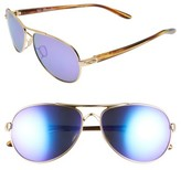 Oakley Women's Tie Breaker 55Mm Polarized Sunglasses - Gold/ Violet Iridium P